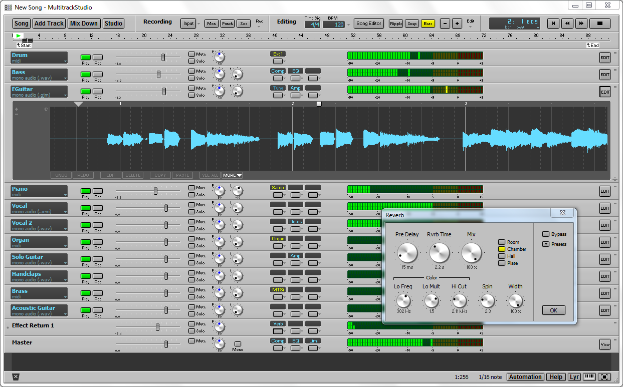 multitrackstudio  midi multitrack recording software
