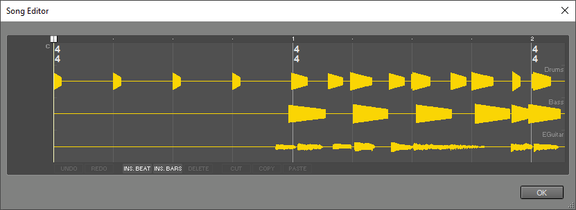 Song Editor window
